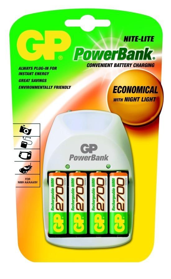 GP nabíječka baterií PB11 + 4AA NiMH2700