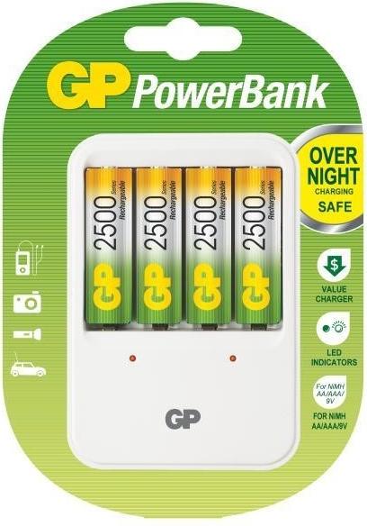 GP nabíječka baterií PB420 + 4AA NiMH2500