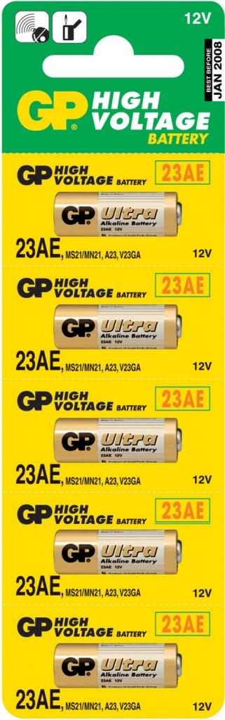Alkalická speciální baterie GP 23AE, 5 ks v blistru
