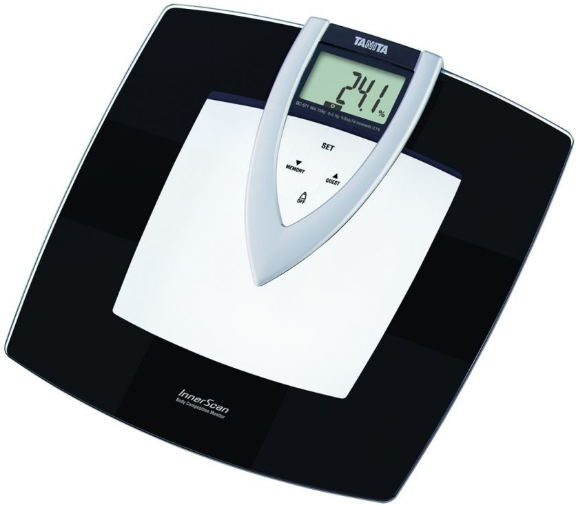 Skleněná osobní digitální váha Tanita BC - 571 s dotykovým displejem