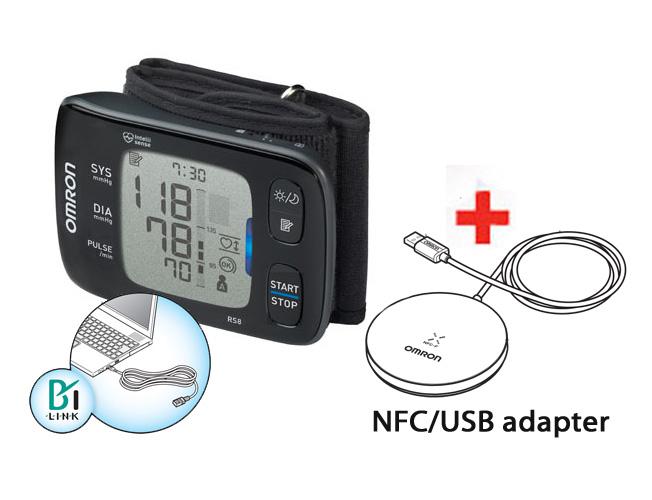 Tlakoměr OMRON RS8 s NFC/USB adaptérem