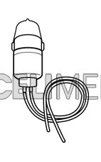 Medikační nádobka na lék (láhev) pro dlouhodobou nebulizaci pro OMRON NE-U17
