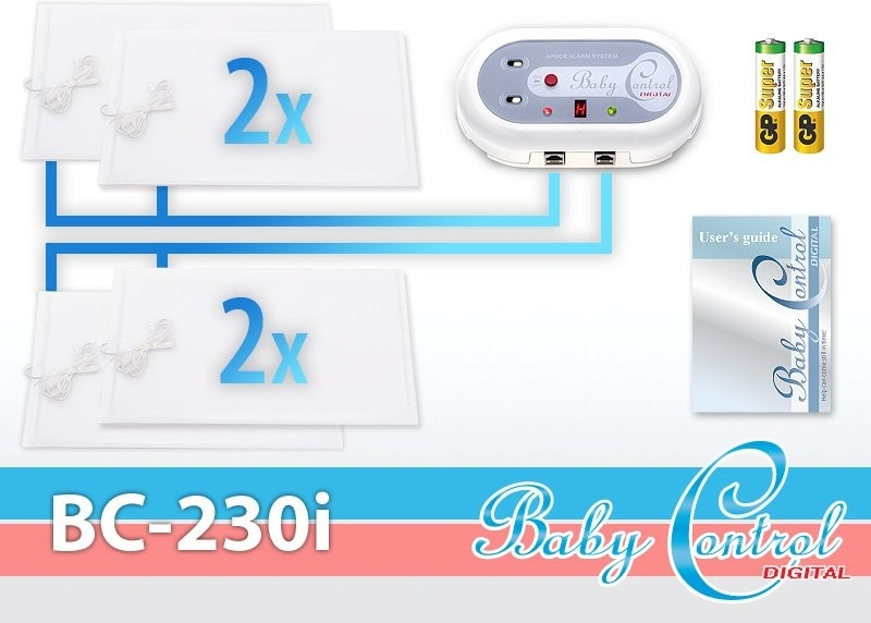 Monitor dechu Baby Control Digital BC-230i - pro dvojčata
