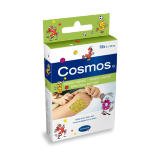 Cosmos Dětská náplast, 6 cm x 10 cm, 10 ks
