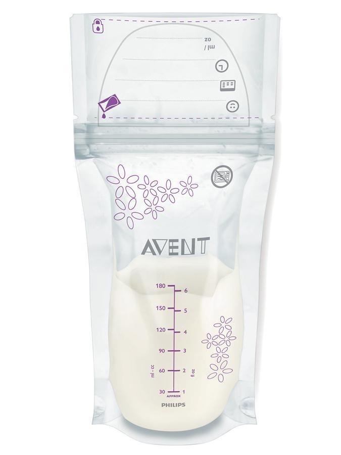 Avent Sáčky na uskladnění mléka 180 ml 25 ks