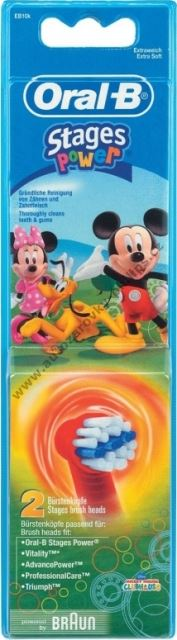 Dětský kartáček náhradní Braun Mickey EB 10-2 Oral-B Kids 2ks