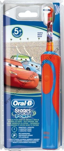 Dětský kartáček na zuby Oral-B nabíjecí Auta D12.513.K Braun