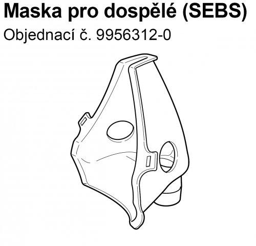Maska SEBS pro dospělé k inhalátorům OMRON C801,C801KD,C28, C28P, C29, C30