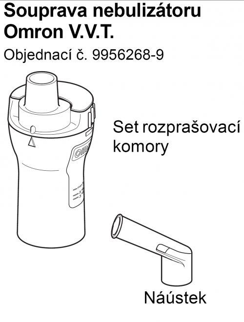 Set (rozprašovací komora + náustek) k inhalátorům OMRON C28, C29, C30