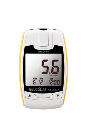 Glukometr GlucoLab s 25ks testovacích proužků+25 lancet