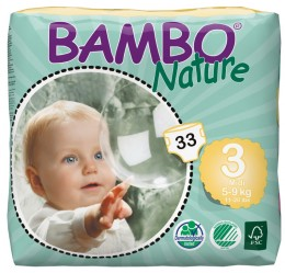 BAMBO Nature Midi plenkové kalhotky 5-9 kg 33 ks