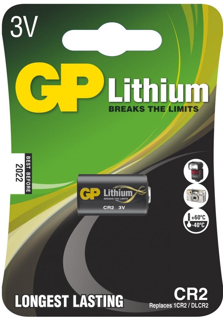 Foto lithiová baterie GP CR2, 1 ks v blistru