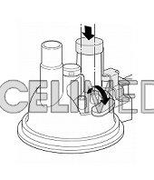 Kryt medikačního tanku pro dlouhodobou nebulizaci pro OMRON NE-U17