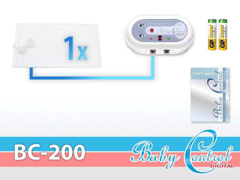 Monitor dechu Baby Control Digital BC-200 s jednou senzorovou podložkou