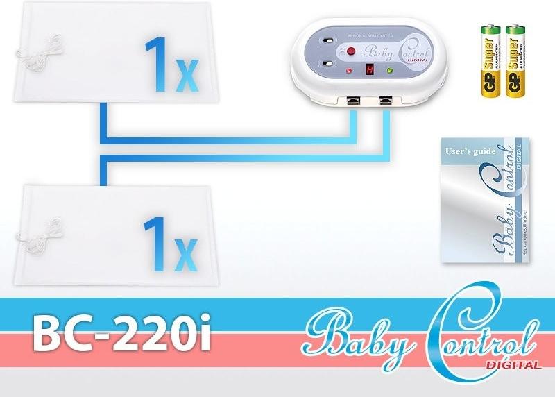 Monitor dechu Baby Control Digital BC-220i - pro dvojčata