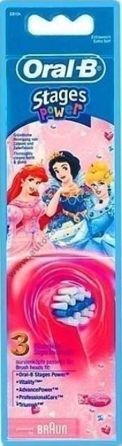 Dětský kartáček náhradní Braun Princezna EB 10-2 Oral-B Kids 2ks