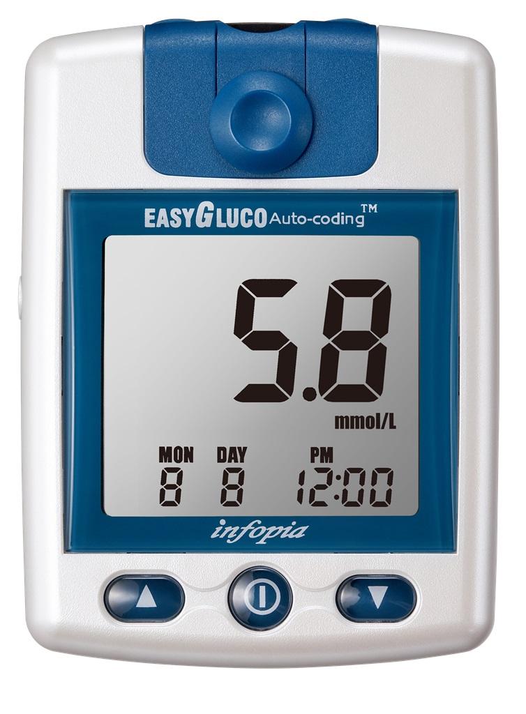 Glukometr EasyGluco s 25 ks testovacích proužků + 25 lancet (8809115900036)
