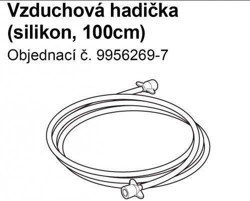 Inhalační hadice SEBS 100 cm k inhalátorům OMRON C801,C801KD,C28, C28P, C29, C30