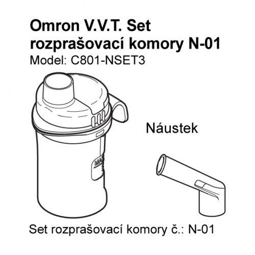 Set (rozprašovací komora + náustek) k inhalátorům OMRON C801,C801-KD, C28P