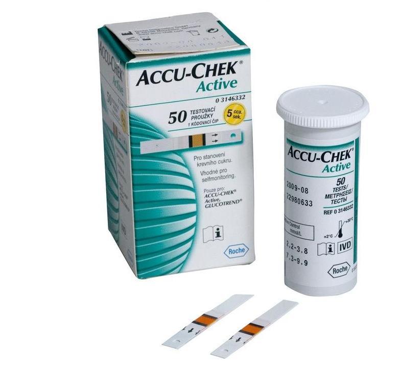 Accu-Chek Active 50ks testovací proužky pro glukometr