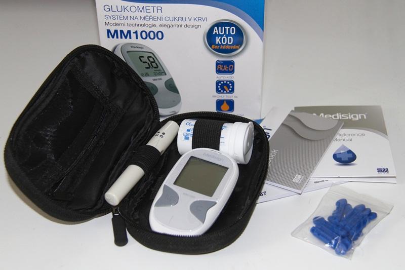Glukometr Medisign MM1000 + 10 testovacích proužků + 10 lancet