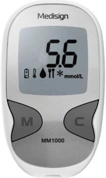 Testovací proužky pro glukometr Meditest Medisign MS-2 50ks + ZDARMA glukometr