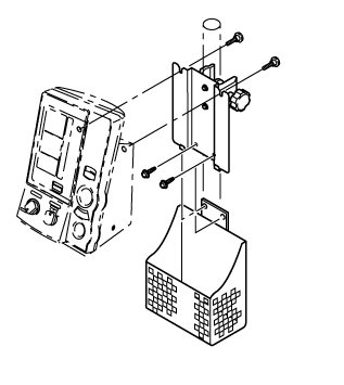 Držák na zeď + konzole (tyč) pro tlakoměr OMRON 907